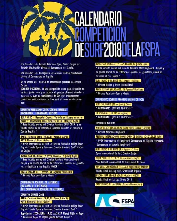 calendario competición fspa